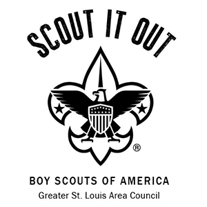 Scout It Out Boy Scouts of America St. Louis Area Council Logo | Poettker Construction