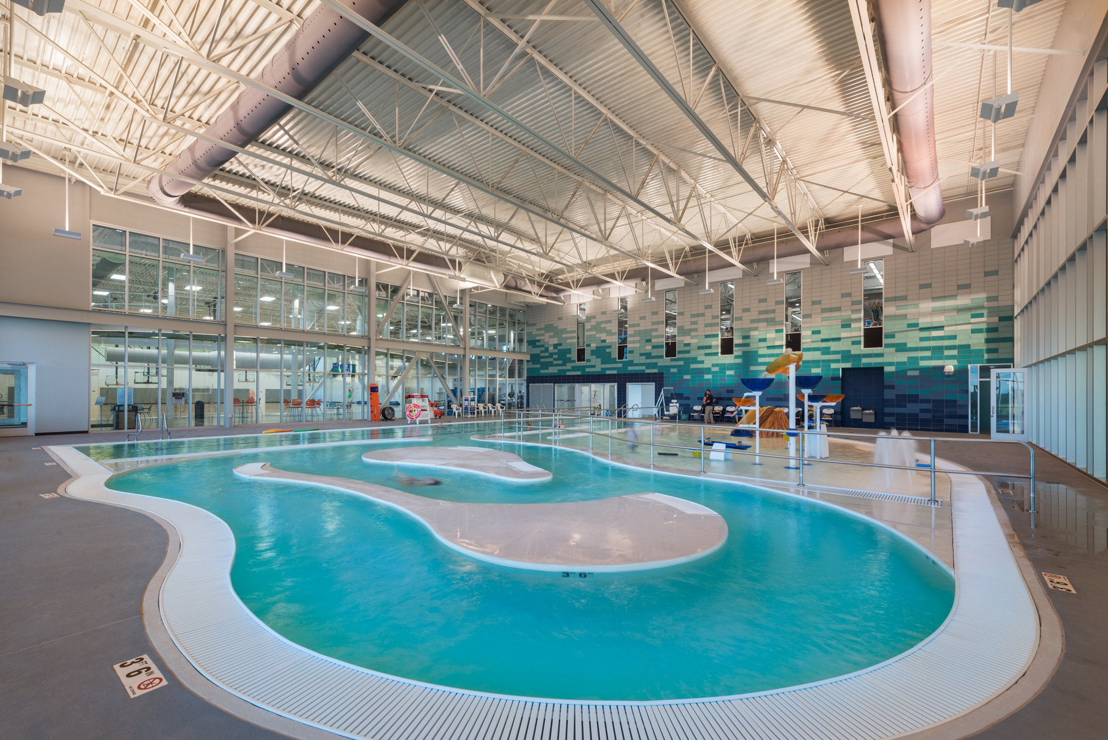 Workman Sports Complex Pool Area | Poettker Construction