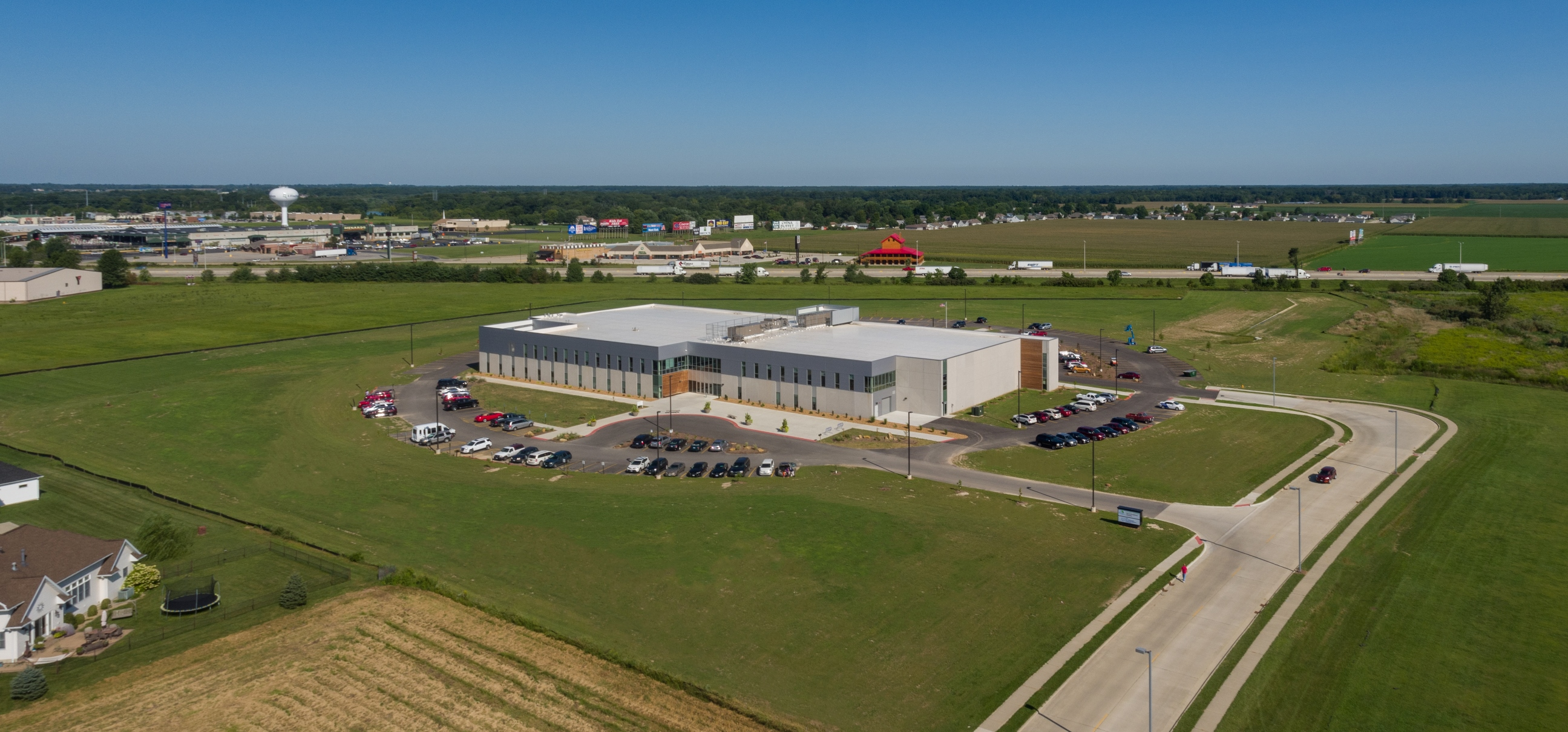 Workman Sports Complex Exterior Aerial | Poettker Construction
