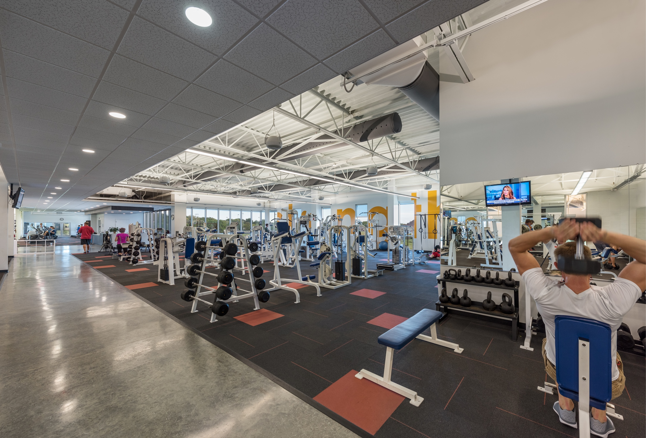 Workman Sports Complex Weight Area | Poettker Construction