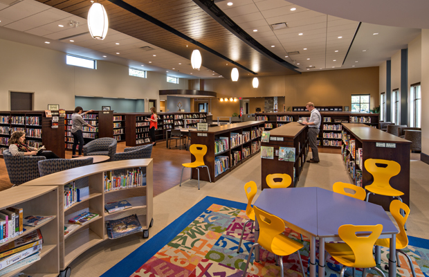 Case-Halstead Library Interior | Poettker Construction