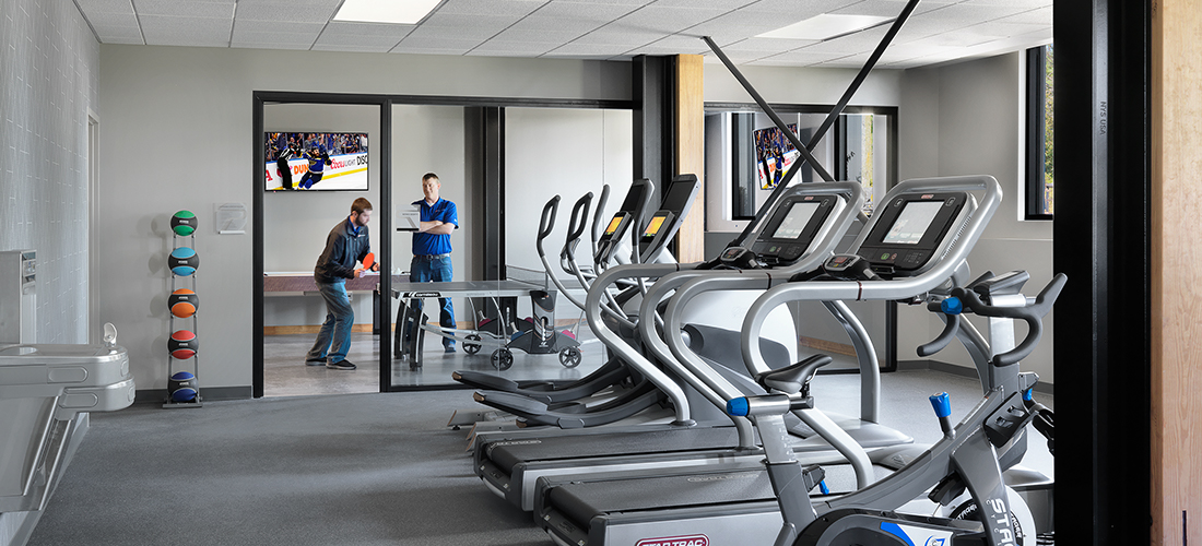Poettker Headquarters Fitness Room | Poettker Construction