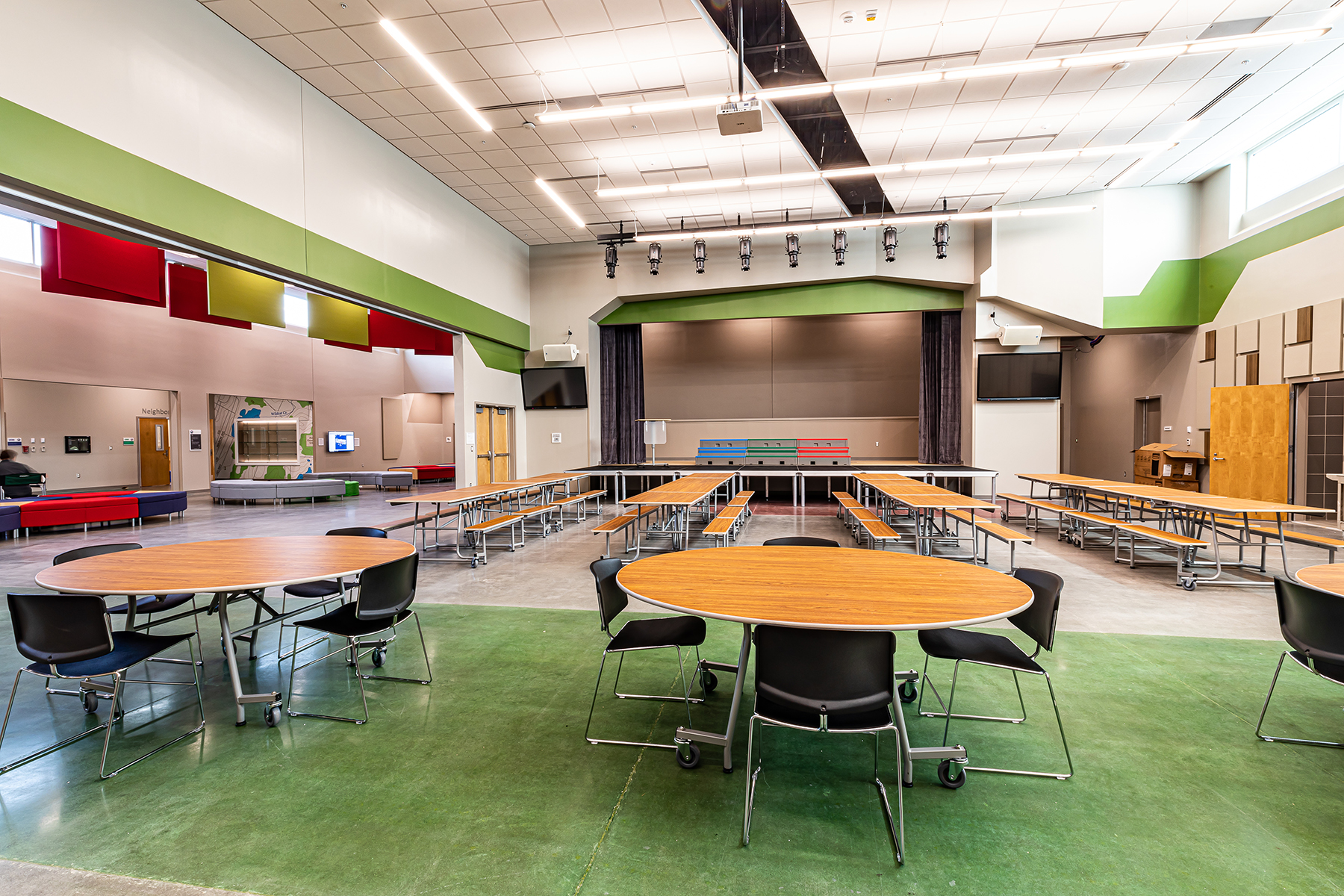 elementary school commons area